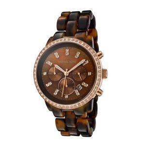 Michael Kors Tortoise & Rose Gold Watch (MK-5366)